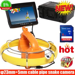 Wholesale 60M waterproof DVR CCTV Underwater Sewer Drain Pipe Wall Inspection Camera Strong Cable with LEDs camera sytem new pipe camera