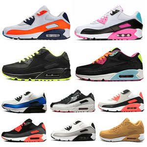 Wholesale hotsale men women running shoes South Beach Infrared Triple Black White Neon Laser Fuchsia womens mens trainers Sports Sneakers