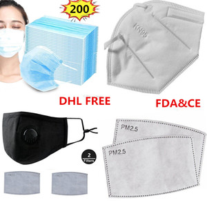 Wholesale Face Masks Anti Dust and Flu Virus Smoke and Allergies Adjustable Reusable kn95 Mask Protection with Filters for Women Man pm2