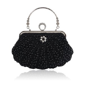 Wholesale Popular new hot boutique evening bag pearl dress bag wedding bag ladies hand shoulder diagonal package