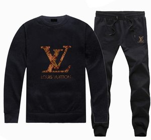 fcbf9ad4d76d Fashion Stylish Brand Designer Tracksuit Men Luxury polo Sweat Suits Jogger Suits  Jacket + Pants Brand Mens Tracksuits Mens Outercoat