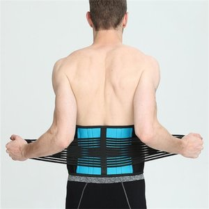 Wholesale Waist Trimmer Lower Pain Relief Back Waist Support Lumbar Brace Belt Double Pull Strap Gym Sports Accessories Fitness Belt