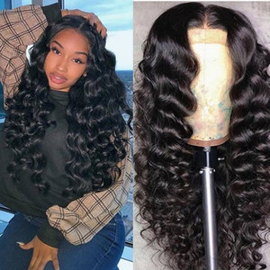 Wholesale 180 density lace frontal chemical fiber hair wig ladies middle texture long curly hair natural black small volume wave volume wig set