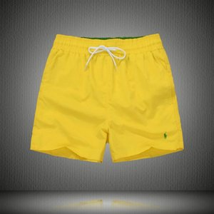 2018 Wholesale-Summer Men Short Pants Swimwear Nylon Men Brand Beach Shorts Small horse Swim Wear Board Shorts M-XXL on Sale