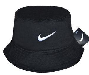 Wholesale-2019 Hot Selling Fashion Camping Hiking Hunting Fishing Outdoor Bob Cotton Plain Blank Black Bucket Hat Cap Hip Hop Men Women bone