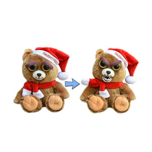 Wholesale Feisty Pets Christmas Gift Change Face Stuffed Animal Doll Plush Toys with Funny Expression for Kids Cute Prank Toy