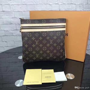 Fashion classic men's messenger bag designer messenger bag brand leather men's shoulder bag travel briefcase M40044