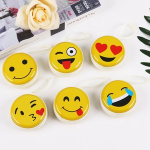 Wholesale Emoji Coin Purse Metal Cute Wallet Portable Keyring Coin Purse Earphone Earbud Storage Iron Box Case HHA684