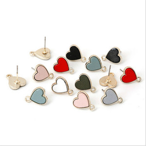 Wholesale 4pcs new arrival cute drip heart beads charms connectors for metal pendant jewelry making diy earrings accessories material