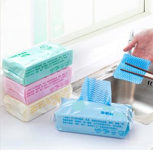 Wholesale 70pcs Environmental Disposable Washing Dish Towel Magic Kitchen Cleaning Cloth Non stick Oil Wiping Rags Towel Bag A2262c