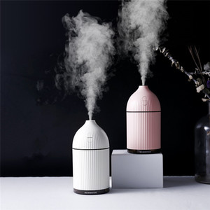 Wholesale 300ml White Aromatherapy Usb Ultrasonic Air Humidifier Mist Maker Aroma Essential Oil Diffuser For Home With Led Light Q190601