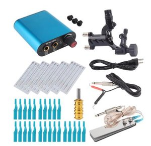 Wholesale Tattoo Kit Black Rotary Tattoo Machine Shader Liner With Needle and Disposable Tattoo Tips Power Supply