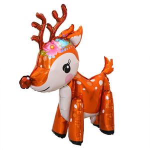 Wholesale 3D Cute Deer Helium Foil Balloons Cartoon Elk Animal Balloon Baby Shower Birthday Christmas Party Decoration Supplies ZC1167