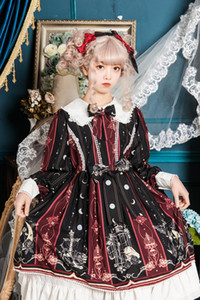 Free shipping 2019 new Leopard has a cat original lolita~Rose Branch OP