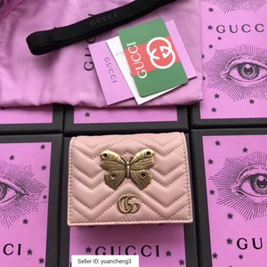 Wholesale yuancheng3 Butterfly insect metal decorative card package nude powder Women Long Wallet Chain Wallets Purse Clutches Evening Key Mini