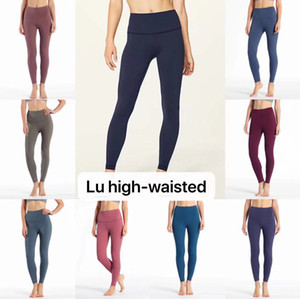 Wholesale CK1038 Wunder Under Hi Rise Tighy Full on Lulu GYM Sexy Tummy Control Running Leggings No see through fabric colorful