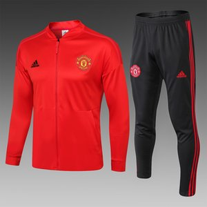 Wholesale 19 Manchester jacket soccer tracksuit United POGBA soccer training suit RASHFORD LUKAKU Man Football tracksuit
