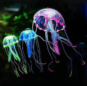 Wholesale jellyfish tanks for sale - Group buy Aquarium Glowing Jellyfish Artificial Jellyfish Ornament Aquarium Fish Shrimp Tank Fluorescent Decorations with Realistic Glowing Effect