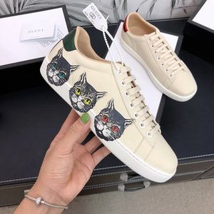 Hot sale Newest Personality Fashion flat Couple Casual shoes Print Animal Beige top quality with box and dusty bag Unisex