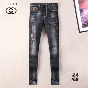 Wholesale Personalized Embroidered Stretch Jeans Men s Autumn Fashion Europe and America New Men s Youth Jeans