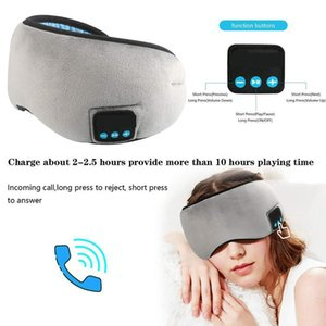 Wholesale Headphones Sleep Mask Wireless Bluetooth Sleeping Eye Mask Headphones Travel Eye Shades with Built in Speakers Microphone Handsfree