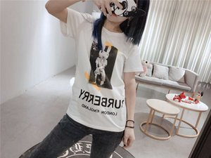 Wholesale Burburry Womens Designer Tshirts Fashion Print Ladies Top Short Sleeve Girls Clothes New Arrival