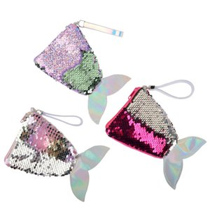 Fashion Mermaid Women Girl Children Sequins Money Hand Cute Bag Coin Wallet Purse High Quality Fast Shipping F3450