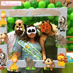 Wholesale animals zoos for sale - Group buy PATIMATE EVA Foam Masks Halloween Decors Animal Masks Face Zoo Jungle Party Mask Birthday Party Decors KidsParty Favors