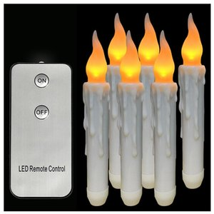 Wholesale LED Candle cm Remote Control Wax Flameless Flickering Christmas Lamp Candle Lights Wedding Decor Home Xmas Decoration Candles
