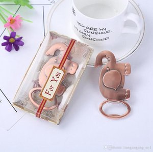 Wholesale Elephant Bottle Opener Good Luck Zinc Alloy Cute Animal Gold Wedding Favors Party Gift With Retail Box LJJ_OA4178