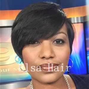 Wholesale short bobs haircuts for sale - Group buy New Haircuts Brazilian Virgin Natural Black Hair None Lace Bob Human Hair Wigs None Lace Human Short Hair Wigs For Black Women
