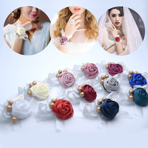Wholesale artificial flower bracelets for sale - Group buy New Fashion Artificial Wrist Flower Bridesmaid Sisters Hand Flowers Prom Wedding Bracelet Accessories Gifts For Guests Bridal
