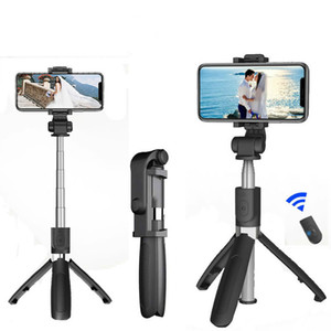 Bluetooth Selfie Stick with Tripod Plastic Alloy Self Stick Selfiestick Phone Smartphone Selfie-Stick for Iphone Samsung Huawei (RETAIL)
