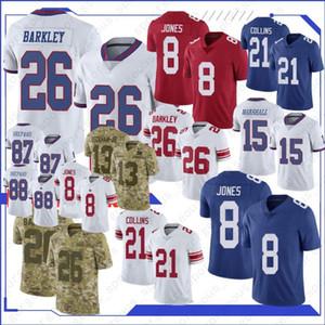 8 Daniel Jones New Jersey 26 Saquon Barkley Jersey 87 Sterling Shepard 10 Eli Manning Top Quality Football shirt NEW football jerseys