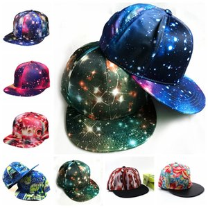 ingrosso sfumature tesa-Stella Cappello Sky Brimmed Berretto da baseball Hip Hop Summer Outdoor Sun Shading Cappelli superficie piatta regolabile Unisex Snapback Hats LJJP187