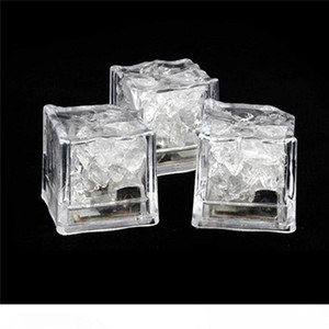 Wholesale ice cubes resale online - LED Ice Cubes DIY Colorful Mini LED Party Lights Crystal Cube Water Actived Light up LED Glow Light Drinking Wine Wedding Party Decoration