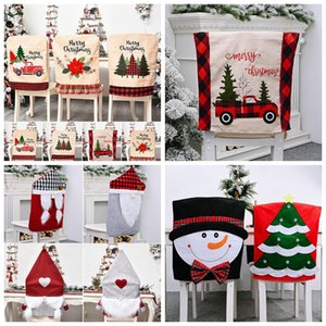Wholesale dining chairs covers for sale - Group buy Christmas Chair Back Covers Dining Chair Cover Slipcovers For Xmas Banquet Holiday Indoor Christmas Decoration YYA331