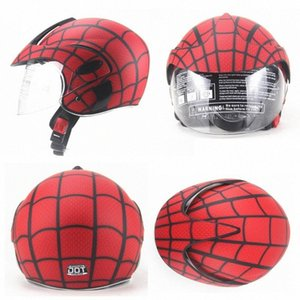 Wholesale spider motorcycle for sale - Group buy Four Seasons Windproof Childrens Helmet Boys And Girls Helmet Electric Motorcycle Kids Spider Web Carbon Fiber Motorcycle Helmet Carbo Nu6e