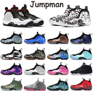 Wholesale silver doctor resale online - Foams Penny Hardaway One Basketball Mens Shoes Pure Platinum Alternate Galaxy Royal Doctor Doom Eggplant Silver Knicks High Trainer Sneakers