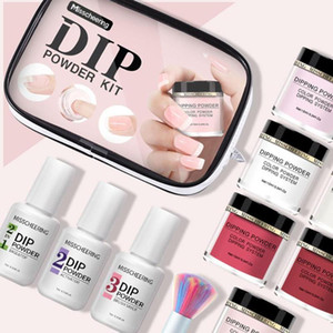 Wholesale dipping powder resale online - Dipping Powder Set Nail Polish Set Primer Sealing Layer Desiccant Nail Starter Kit Dip Powder System and ml Remover