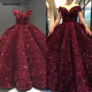 Wholesale picture hand made wool resale online - Gold Dubai Sweetheart Sexy Plus Size Prom Dresses Sequined Off Shoulder Luxury Evening Gowns Couture Dress