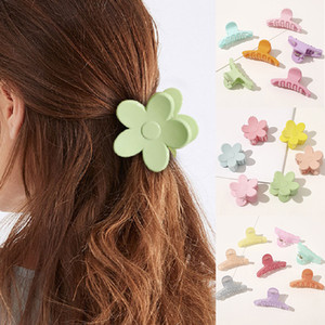 Wholesale plastic barrettes for sale - Group buy Colorful Flower shape Girls Hairpins Claw Crab Plastic Hair Clips For women Big Barrettes Hair Claws Hair accessories