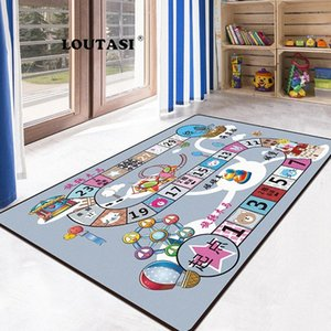 Wholesale playmat baby resale online - LOUTASI Kids Rug Developing Mat Soft Flannel Baby Play Mat Toys For Children Playmat Puzzles Carpets In The Nursery Play l718