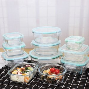 Wholesale lunch boxes for sale - Group buy 1040ml Glass Food Storage Container with Lids Glass Meal Prep Containers Airtight Glass Lunch Bento Boxes BPA Free Leak Proof