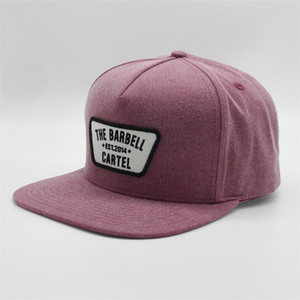 Wholesale customize hats resale online - Factory Customized Woven Patch Snapback Cap Purple Distressed Washed Baseball Hat Vintage Embroidery Logo Hip Hop Snapback Hats