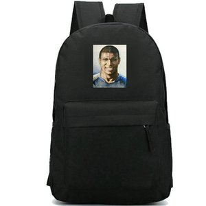 Wholesale football photos resale online - Mbappe backpack Kylian photo new school bag Football star daypack Soccer schoolbag Outdoor rucksack Sport day pack