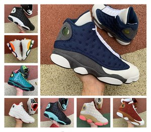 new Mens basketball shoes 13s Flint 13 Island Green Black cat Bred Court Purple Hyper Royal Chicago He Got Game men athletic sports sneakers