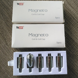 Authentic Yocan Magneto Replacement Coils Head Ceramic Wax Coil With Magnetic Coil Cap And Dabber Tool White box packing