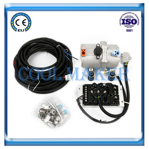 Auto air conditioner electric compressor for truck bus 12V 24V