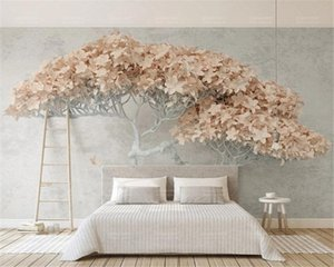 Wholesale romantic wallpaper new for sale - Group buy 3d Wallpaper Walls New d Stereo a Flowering Tree Modern TV Background Wall Romantic Scenery DecorativeMural Wallpaper